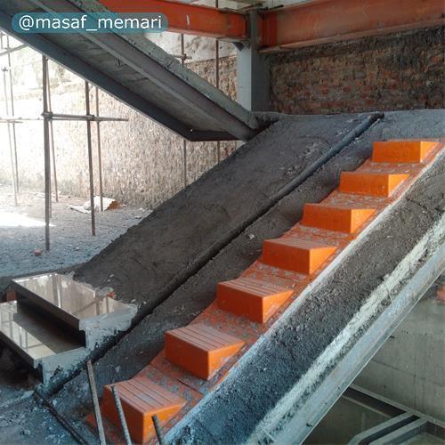 پله موقت پلاستیکی ویژه کارگاه ساختمانی