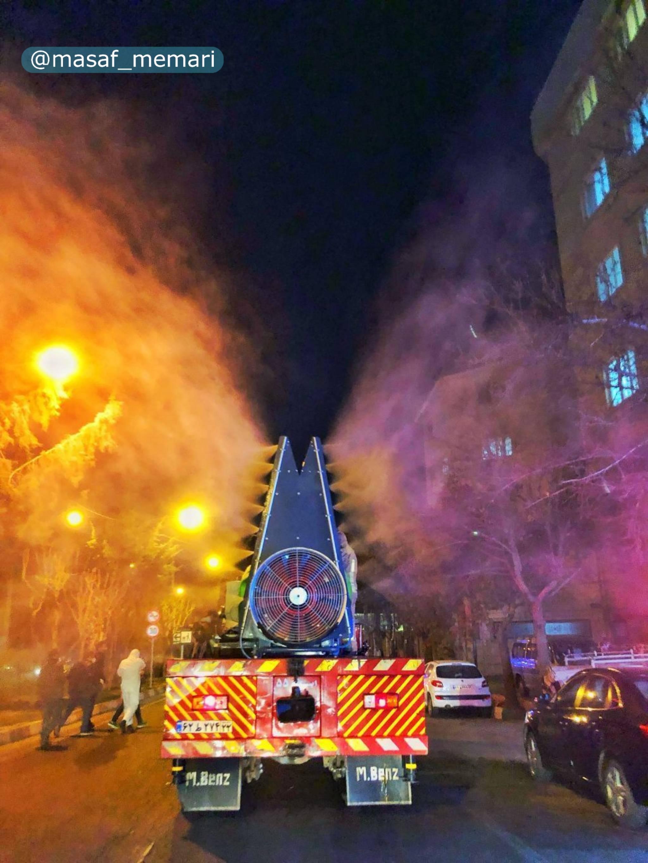 طراحی و تولید مهپاش ۴ تنی برای ضدعفونی شهر