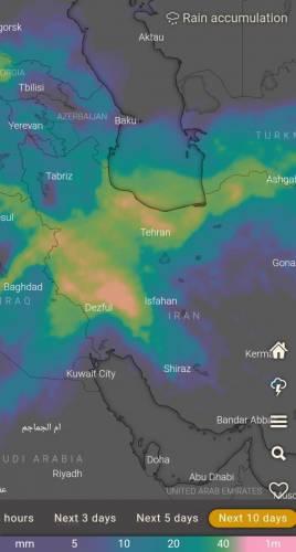 ورود سامانهای بارشی بسیار قوی/ بارندگی بسیار شدید طی ۱۰ روز آینده در دامنههای البرز و غرب کشور پیش بینی میشود!