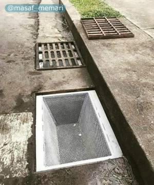 جلوگیری از نفوذ زباله در جویهای سرپوشیده.