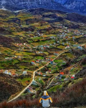 چشم انداز زیبا از روستای زیارت | گلستان