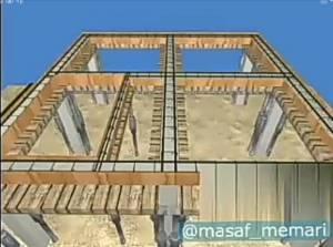 نحوه اجرای سقف عرشه فولادی در ساختمان اسکلت بتنی
