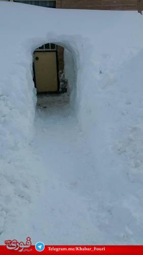 ارتفاع برف در خلخال به بیش از ۴ متر رسید