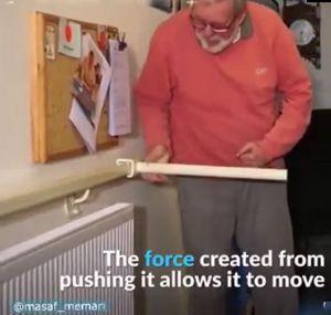 ایده بسیار ساده و کاربردی برای کمک به سالمندان با محدودیت جسمی برای بالا رفتن از پله