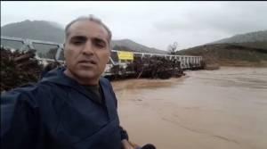 تخریب پل تازه افتتاح شده در لرستان
