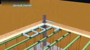 مراحل ساخت سقف وافل