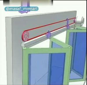 مکانیزم درب های بازشو دو قسمته