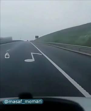 ایده جالب برای نگه داشتن رانندهها بین خطوط. | Music road
