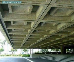 کنسول دال وافل | سازه ساختمان
