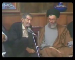 دیدار آیتالله خامنهای و شهریار در تبریز 