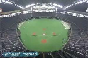 استادیوم  «گنبد ساپورو» در ژاپن با قابلیت تغییر حالت از زمین بیسبال به فوتبال و برعکس.