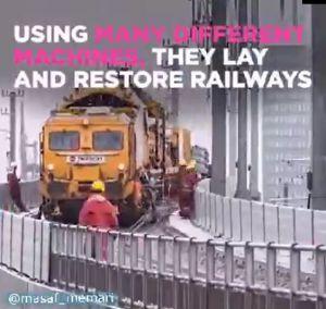 دستگاهی تمام مکانیزه جهت توسعه خطوط ریلی و راه آهن