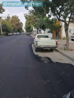 آسفالت کردن خیابان در شیراز