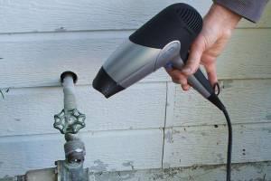 برای جلوگیری از یخ زدگی کنتور و قطع آب